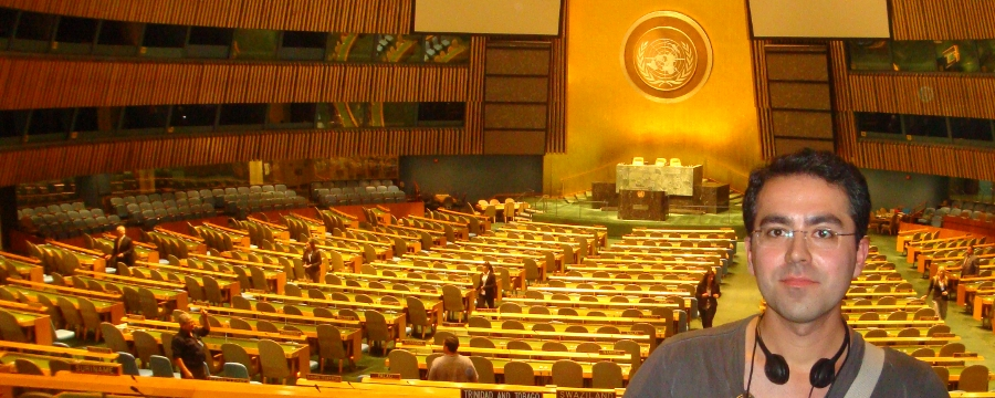 Amir Azarbakht at United Nations New York