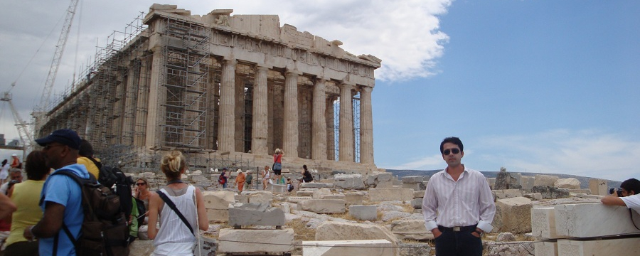 Amir Azarbakht at Parthenon of Athens, Greece